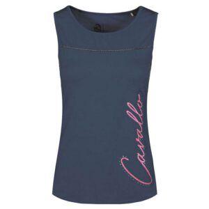Mouwloos shirt Cavallo Polly blauw voorzijde