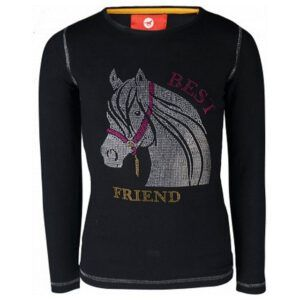Shirt Red Horse Flash jet black voorzijde