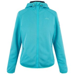 HV Polo jas Jenny blue turquoise vooraanzicht