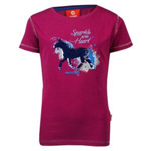 T-shirt Red Horse Caliber dahlia paars voorzijde