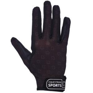 QHP handschoenen Solar Mesh zwart bovenzijde