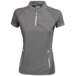 Eskadron t-shirt Reflexx met rits grijs voorzijde