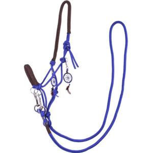 QHP touwhalster Liberty kobaltblauw met teugels